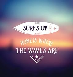 Surf vintage retro poster Hawaii beach wave banner vector image