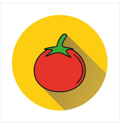 tomato simple icon on white background vector image vector image