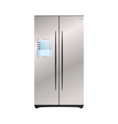 Two compartment refrigerator icon vector