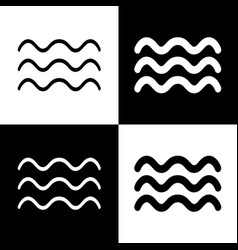 Waves sign black and white vector