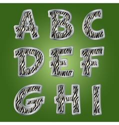 Zebra letters vector image vector image
