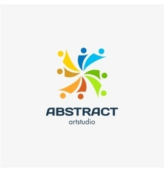 Isolated abstract square shape colorful vector