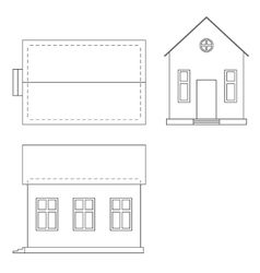 Drawing of house vector