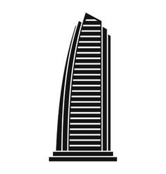 Skyscraper icon simple style vector