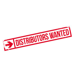Distributors wanted rubber stamp vector