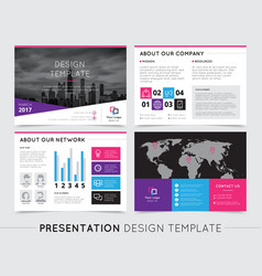 Company presentation templates vector