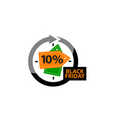 Black friday discount 10 percentage vector