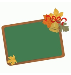School board with leaves vector