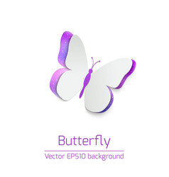 Paper butterfly card vector