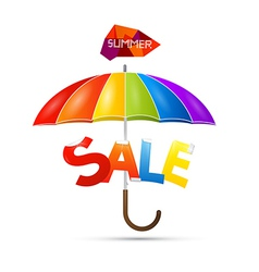 Summer sale theme with colorful umbrella vector