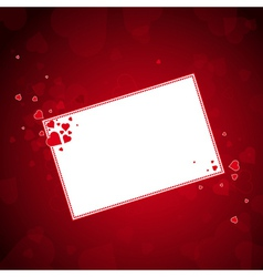 Lovely red hearts with label vector