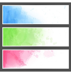 Colorful watercolor abstract banners vector