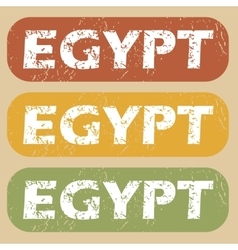 Vintage egypt stamp set vector