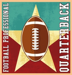 quaterback professional football vector image