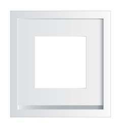 White picture or photo frame vector