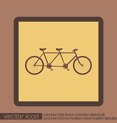 Retro bicycle icon vector