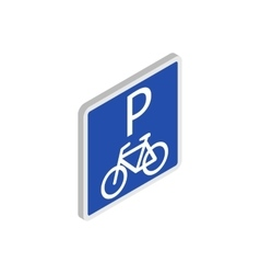Parking for bicycles icon isometric 3d style vector