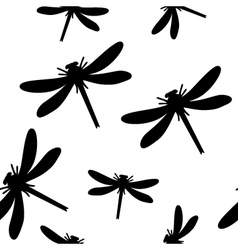 Seamless dragonfly background vector