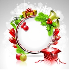 on a Christmas theme with gift box vector image