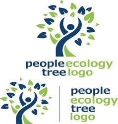 people ecology tree logo 4 vector image