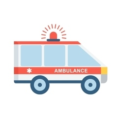 Medical emergency car vector