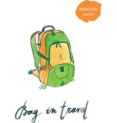 Bag in travel vector
