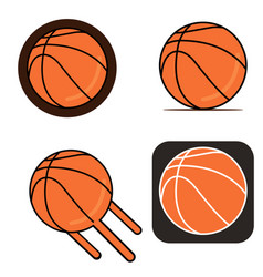 basketball on white background vector image