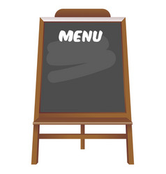 Black board menu restaurant vector