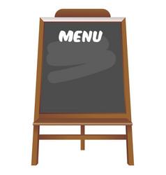 black board menu restaurant vector image vector image