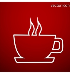 Coffee icon and jpg Flat style object Art vector image vector image