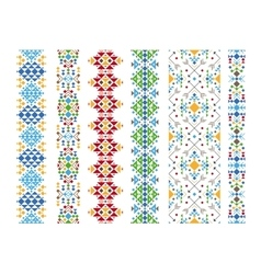 Color ethnic ornament vector image vector image