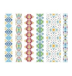 Color ethnic ornament vector