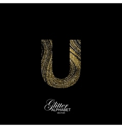 Curly textured letter u vector