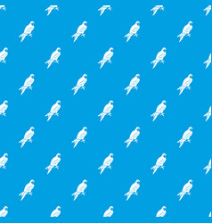 Falcon pattern seamless blue vector
