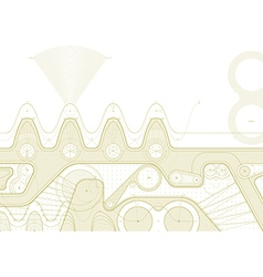 gearline draft vector image vector image