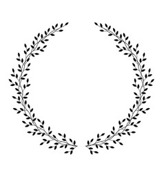Hand drawn wreath with leaves vector