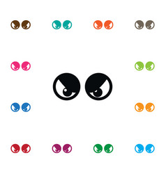 Isolated eyeball icon view element can be vector