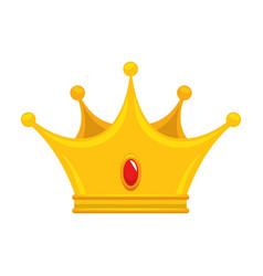 King crown luxury symbol vector