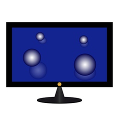 monitor vector image vector image
