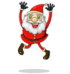Santa Claus jumping vector image vector image