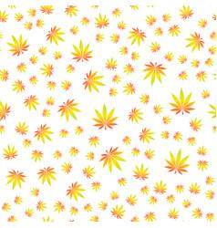 seamless texture marijuana six vector image