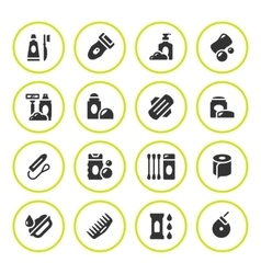 Set round icons of hygiene vector image vector image