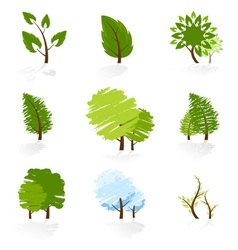 Tree Symbols Set vector image