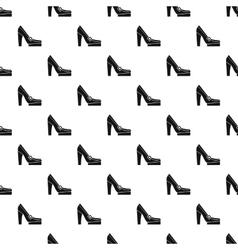 Women high heel shoe pattern simple style vector
