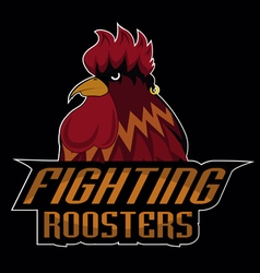 fighting roosters logo disign vector image