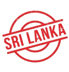 Sri Lanka rubber stamp vector image