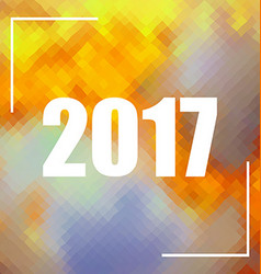 Polygonal background with 2017 numbers vector