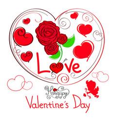 happy valentine s day vector image