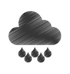 rain weather isolated icon vector image
