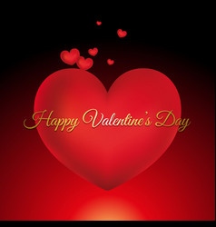valentines day card with decorative text vector image